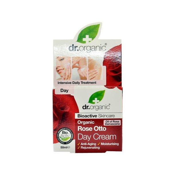 Dr. Organic | Dagcreme | Økologisk | creme | fugt | rynker | anti age | rose otto