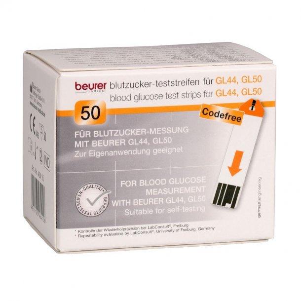 Beurer Teststrips til GL44 og GL50 Blodsukkermålere