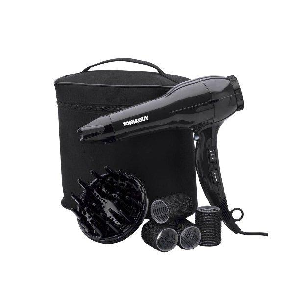 TONI&GUY Hårtørrer - Session Style Kit indeholder hårtørre med fønnæb, en diffuser, curler og ...