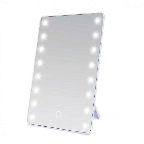Fremragende Wawoo® - Makeup spejl med LED-belysning - Hvid - Kosmetikspejl BB74