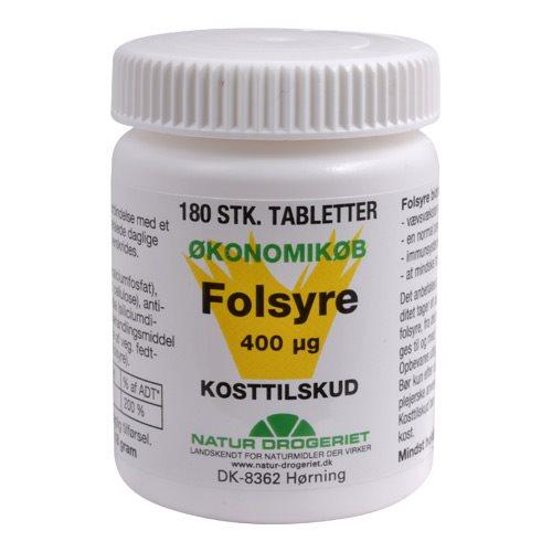 0e3a4f98c6b Natur Drogeriet Folsyre 400 µg. - 180 stk.