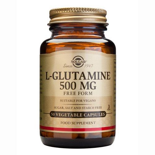 Køb de veganske Solgar L-Glutamine 500 mg kapsler og styrk dine muskler.