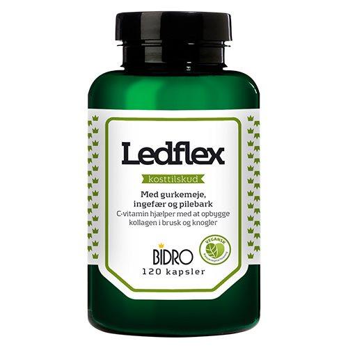 Bidro - Ledflex - 120 kapsler - Muskler og knogler - Kosttilskud - Veganer.