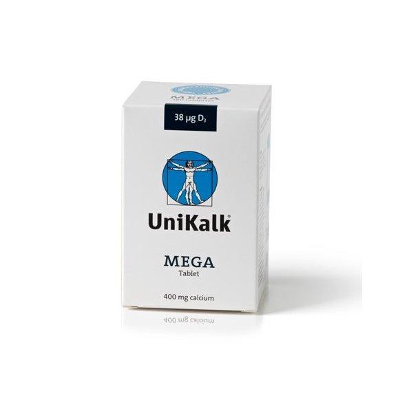 UniKalk Mega m. D-Vitamin - Slugetablet - 180 tabletter