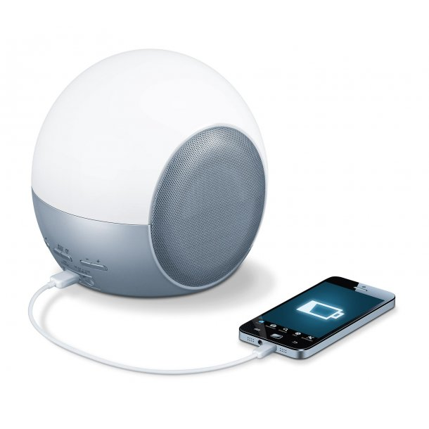 Beurer WL 90 Wakeup light, vækkeur, læselampe og musikstation