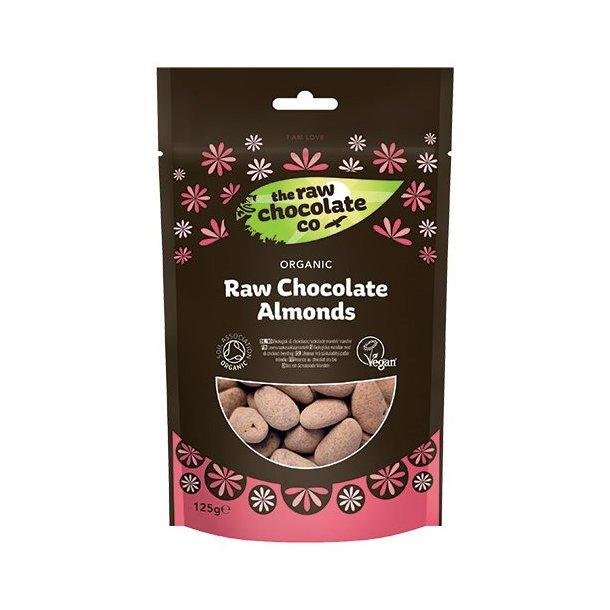 Lækre økologiske mandler m. rå chokolade