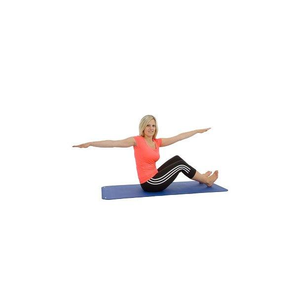 Pilates- og Yogamåtte - Med ophængsøjer - 140 x 60 x 0,6 cm.
