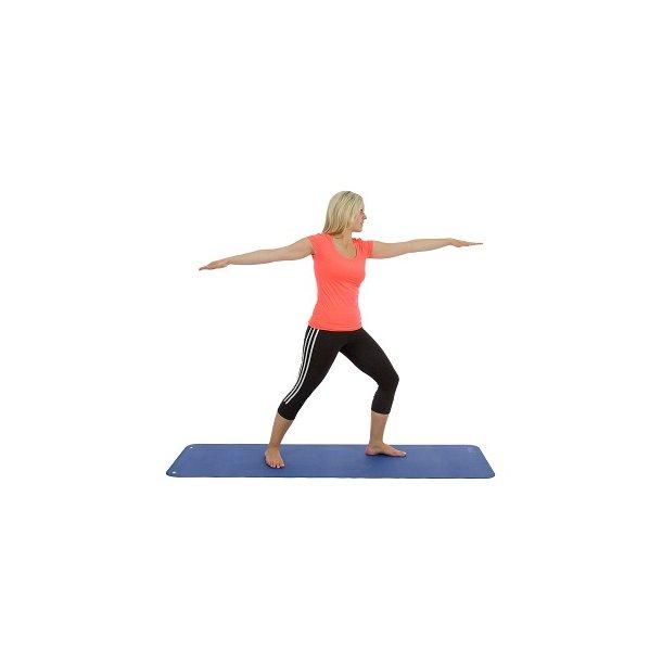 Pilates- og Yogamåtte - Med ophængsøjer - 180 x 60 x 0,6 cm.