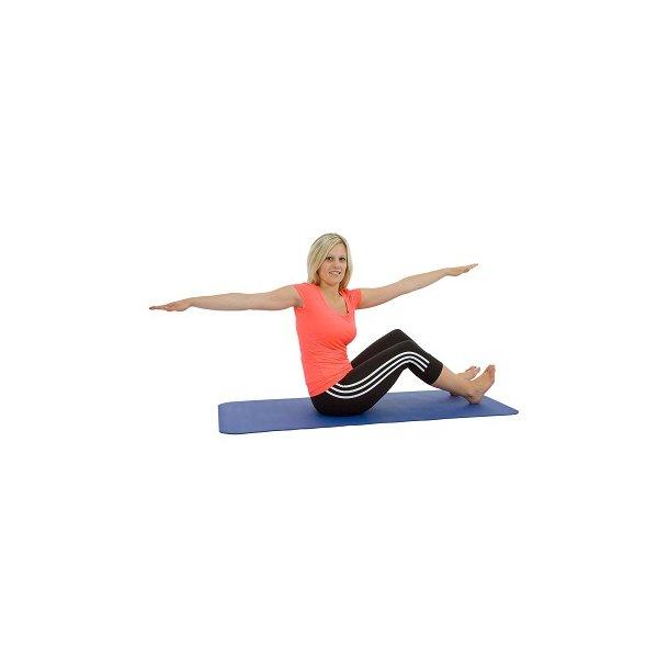 Pilates- og Yogamåtte - 140 x 60 x 0,6 cm.