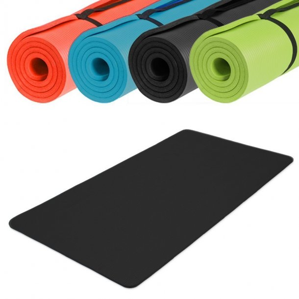 Fitnessmåtte/Yogamåtte ekstra stor - 190x100x1,5 cm.